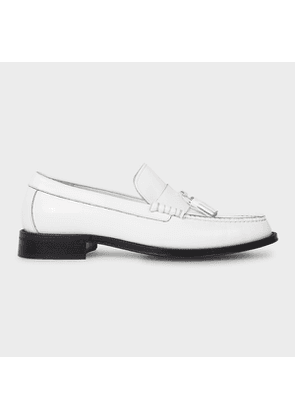 Men's White 'Lewin' Leather Loafers