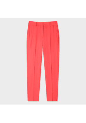 Women's Classic-Fit Coral Wool-Hopsack Trousers