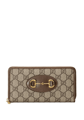 Gucci 1955 Horsebit zip around wallet - Brown