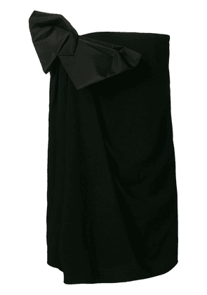 Saint Laurent bow strapless fitted dress - Black