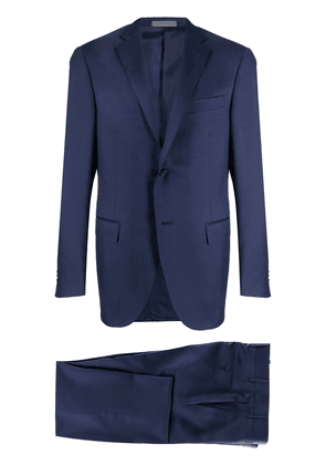 Corneliani slim-fit pleat detail suit - Blue