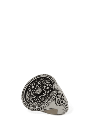 Medallion Ring W/crystal Detail