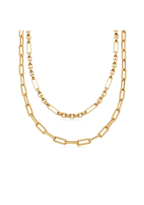 Gold Axiom Chain Necklace Set