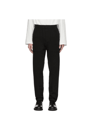 Ann Demeulemeester Black Patch Pocket Trousers
