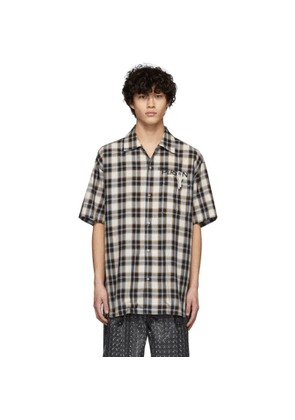 Doublet Black and Beige Key Person Short Sleeve Shirt