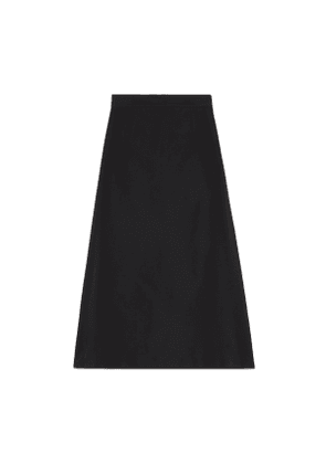 Cotton viscose faille skirt with side slits