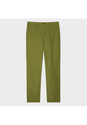 Men's Tapered-Fit Khaki Garment-Dyed Chinos