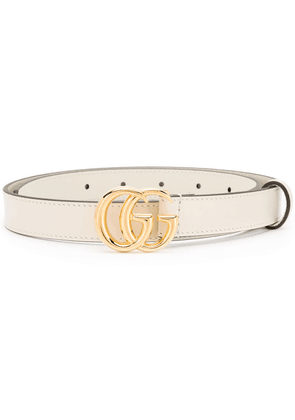 Gucci double G belt - White