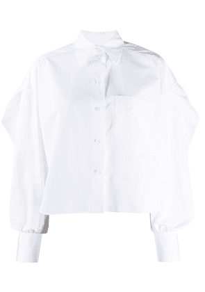 Valentino pouf-sleeve button-up blouse - White
