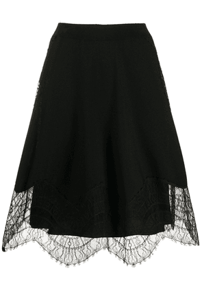 Givenchy lace details A-line skirt - Black