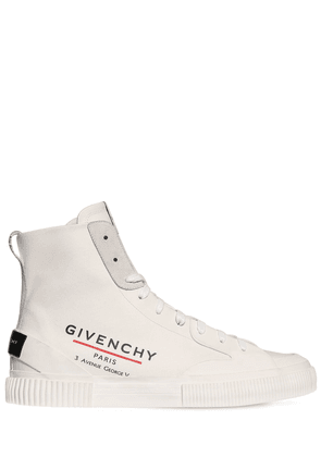Logo High Top Canvas Sneakers