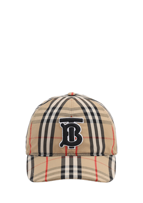 Tb Logo Check Cotton Canvas Baseball Hat