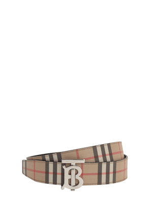 3.5cm Tb Reversible Check E-canvas Belt