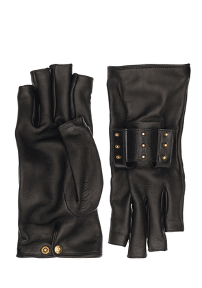 Leather Gloves W/ Lipstick Holders