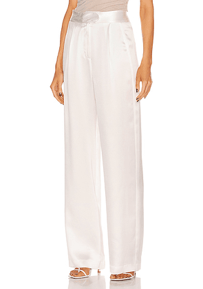 Michelle Mason Wide Leg Trouser in Ivory - White. Size 0 (also in 2,4,6,8).