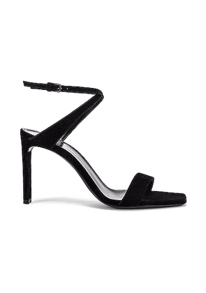 Saint Laurent Bea Bow Ankle Strap Sandals in Nero - Black. Size 37 (also in 36.5,37.5,38,38.5,39,39.5,40,41).