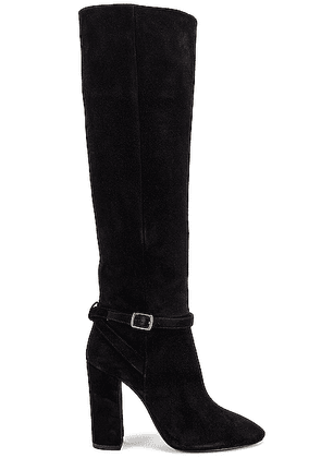 Saint Laurent Lou Harness Boots in Nero - Black. Size 37 (also in 36.5,37.5,38,38.5,39,39.5,40,41).