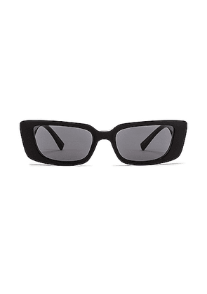 VERSACE Virtus Narrow Sunglasses in Black - Black. Size all.