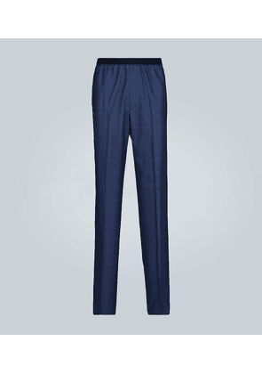 Relaxed wool and silk-blend pants