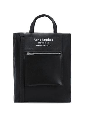 Baker leather-trimmed tote