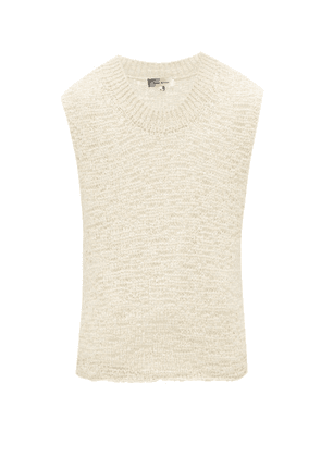 Isabel Marant - Foals Sleeveless Knitted Cotton-blend Tape Sweater - Mens - Cream