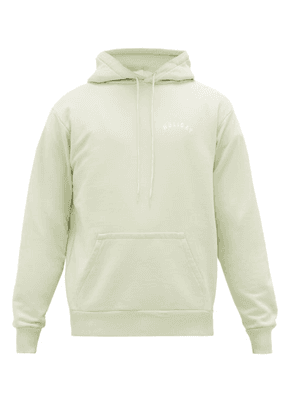 Holiday Boileau - Logo-print Organic Cotton-jersey Hooded Sweatshirt - Mens - Light Green