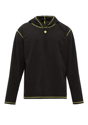 Craig Green - Contrast-stitch Cotton-jersey Hooded Sweatshirt - Mens - Black Yellow