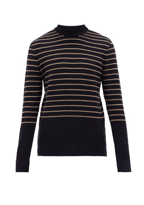 Oliver Spencer - Pergola Striped Wool Sweater - Mens - Navy