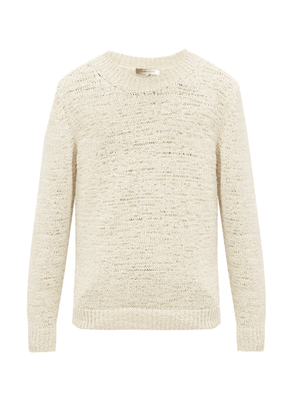 Isabel Marant - Fado Knitted Cotton-blend Tape Sweater - Mens - Cream