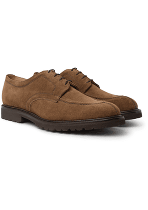 Cheaney - Newton Suede Derby Shoes - Brown