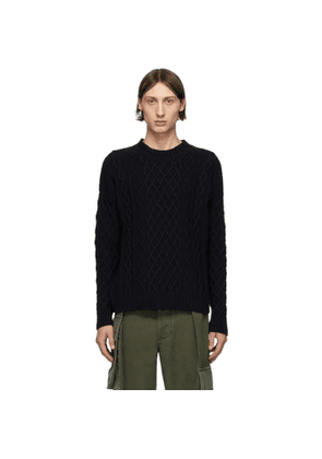 Loewe Navy Cable Knit Sweater