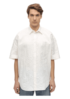 Oversize Wrinkled Cotton Shirt
