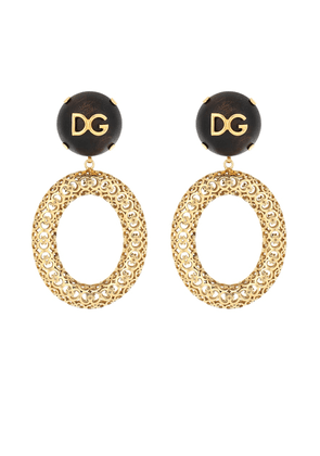 Logo clip-on hoop earrings