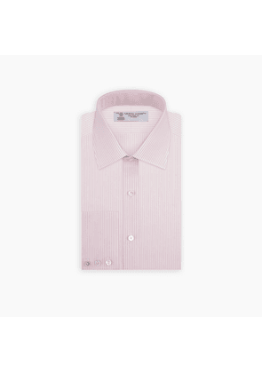 Pink and White Stripe Shirt with POW Collar and 3-Button Cuffs