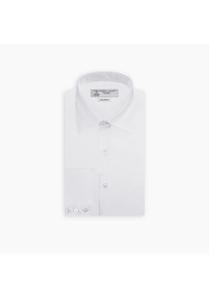 Tailored Fit White Royal Oxford Cotton Shirt with Bury Collar and.