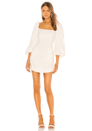 C/MEO Over Again Long Sleeve Dress in White. Size S.