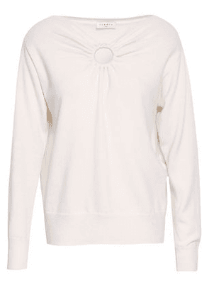 Sandro Cutout Wool And Cashmere-blend Sweater Woman Ivory Size 2