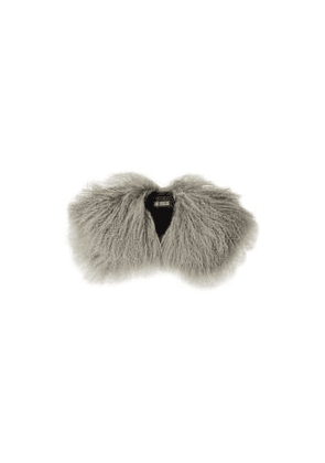 Karl Donoghue Shearling Collar Woman Stone Size --