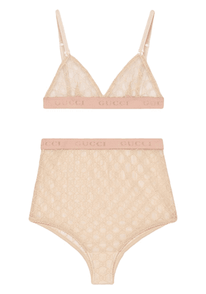 Gucci lingerie set in tulle GG - PINK