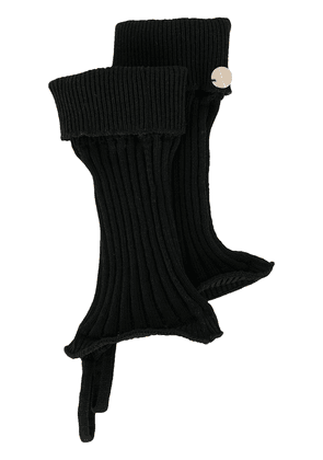 Ann Demeulemeester knitted cut-out gloves - Black