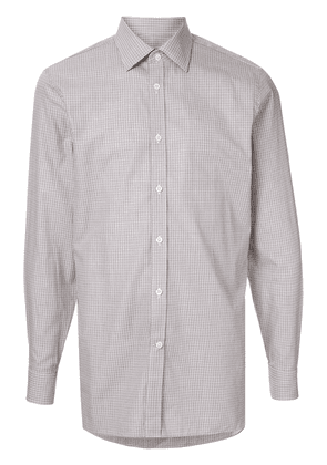 Gieves & Hawkes check pattern shirt - Brown