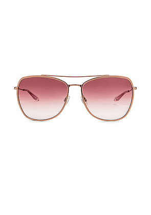 Barton Perreira Severine Sunglasses in Rose Gold & Mulberry Gradient - Metallic,Pink. Size all.