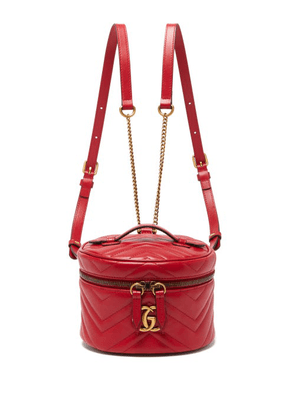 Gucci - GG Marmont Mini Leather Backpack - Womens - Red