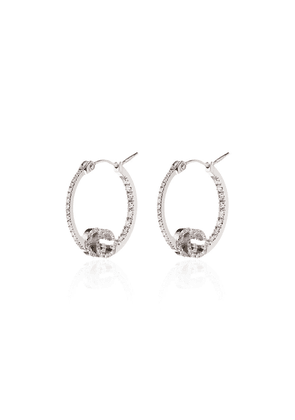 Gucci 18kt white gold Running GG hoop earrings - SILVER