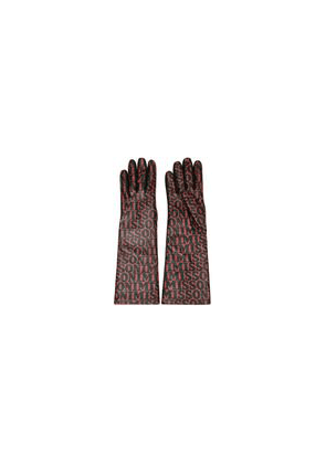 Missoni Printed Leather Gloves Woman Light brown Size M