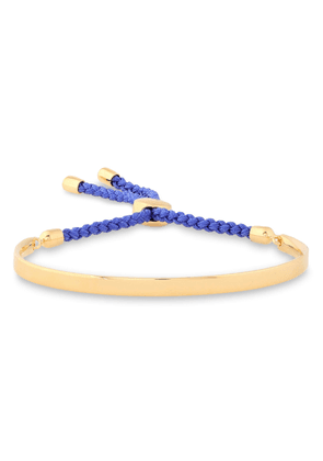 Monica Vinader Blue Fiji 18-karat Gold Vermeil And Braided Cord Bracelet Woman Gold Size --