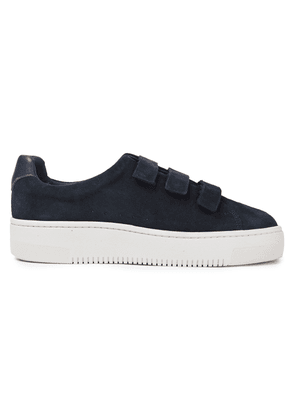 Sandro Suede Sneakers Woman Navy Size 36