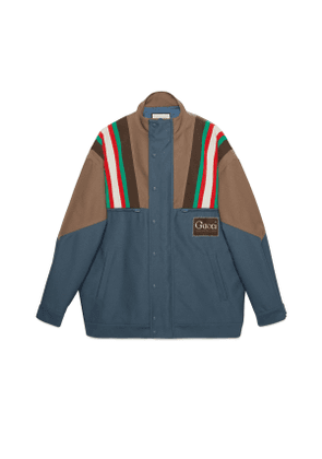 Drill jacket with Gucci label