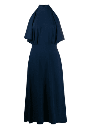 Prada ruffle detail midi dress - Blue