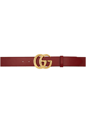 Gucci Red GG Marmont Belt